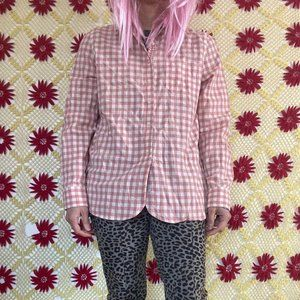 Cute LRL Lauren Jeans plaid blouse